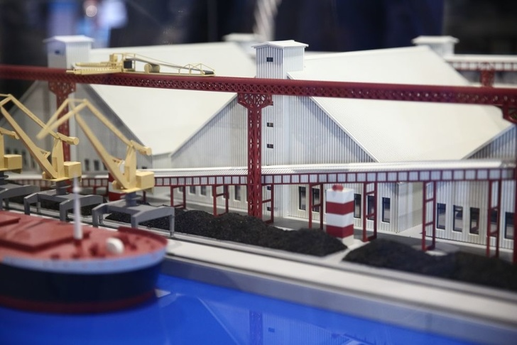 «Терминал Астафьева» представил макет автоматизированного комплекса закрытой перевалки угля. Фото: «Терминал Астафьева»