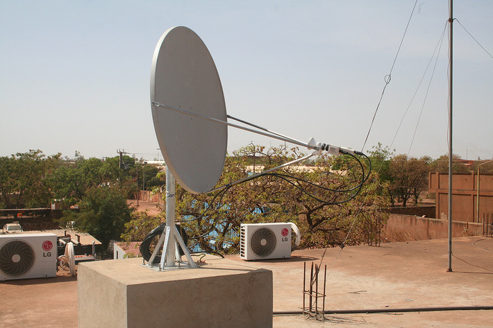 Станция спутниковой связи в Уагадугу (Буркина-Фасо), работающая через «Ямал-402»