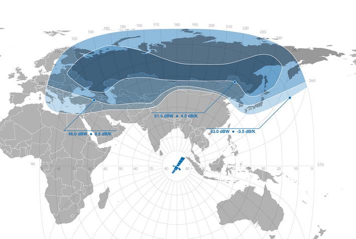 Северный луч Ku-диапазона «Ямал-401» (стандартные частоты)