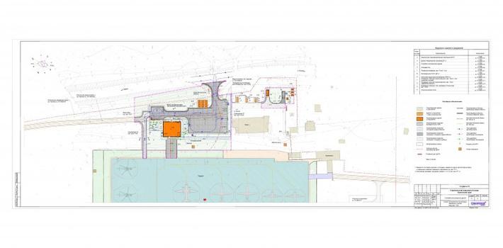 Проектный чертеж реконструкции аэродрома Оссары (c) проектное бюро Красаэропроект