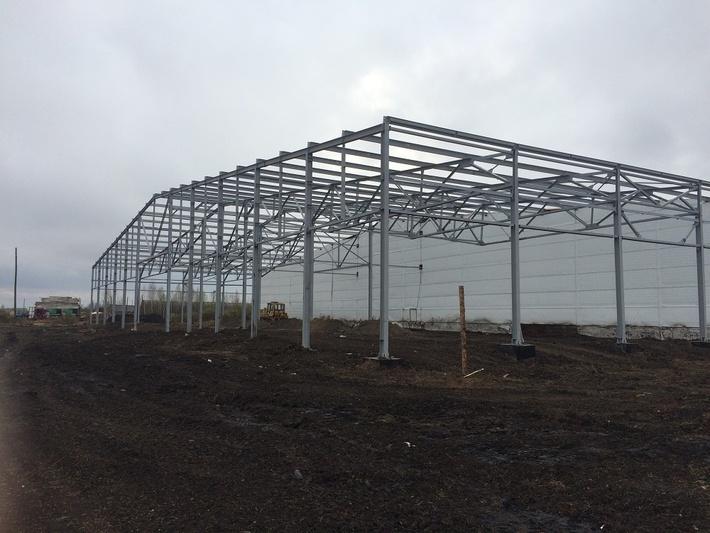 монтаж металлоконструкций на объекте «Овощехранилище II-очередь» мощностью единовременного хранения 4.000 тонн