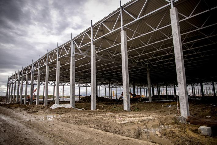 Строительство завода Haval в Тульской области, сентябрь 2017.