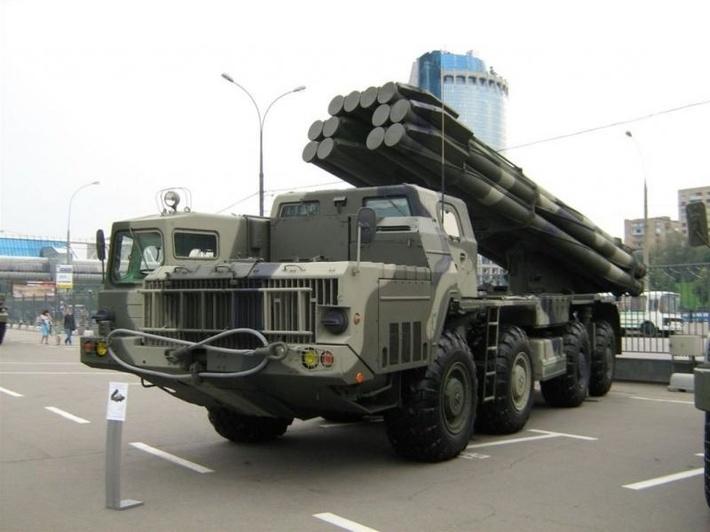 Боевая машина 9А52-2 РСЗО Смерч