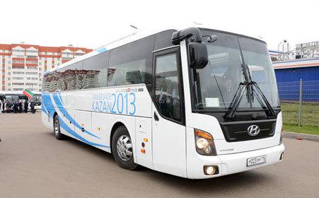 В Казани презентовали первые 25 автобусов для работы на Универсиаде 2013