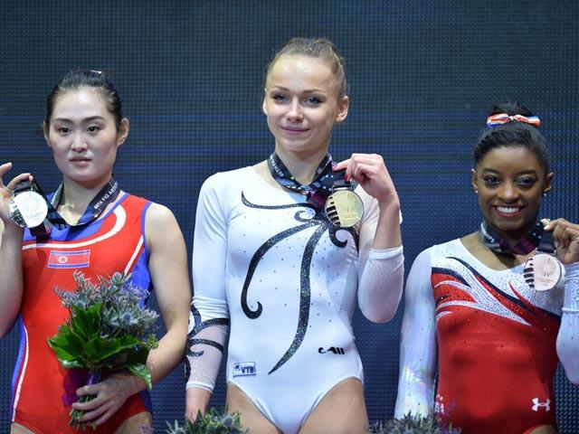 Гимнастка Мария Пасека стала чемпионкой мира в опорном прыжке