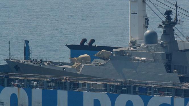 Cận cảnh chiến hạm Gepard Việt Nam trên đường về nước - ảnh 2
