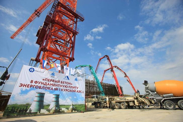Росэнергоатом приступил к строительству первого энергоблока Курской АЭС-2