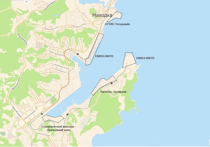 Перевалкой угля в Находке занимаются несколько портовых терминалов