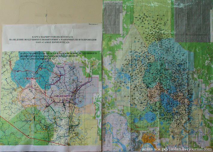 Схема самотлорского месторождения с кустами