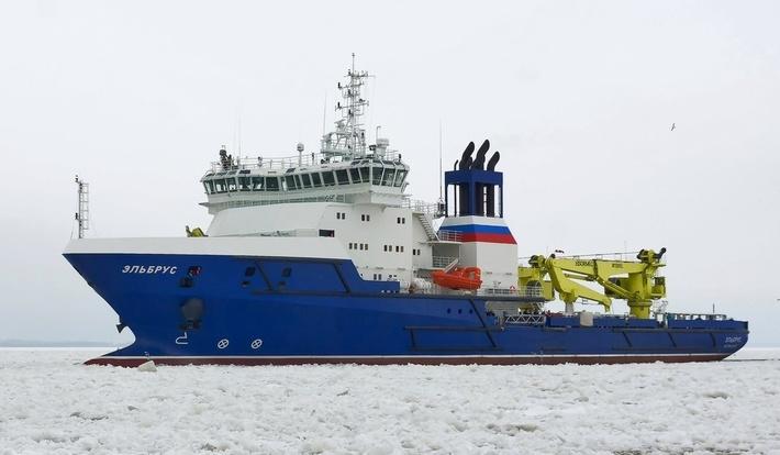 В Баренцевом море начались финальные испытания судна обеспечения «Эльбрус»