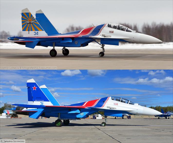 Новая покраска Русских витязей и Стрижей