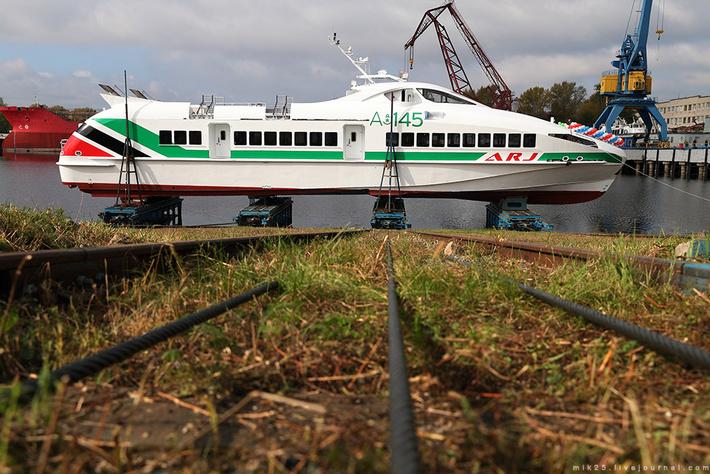 На Зеленодольском судостроительном заводе спущено на воду скоростное судно проекта A145E