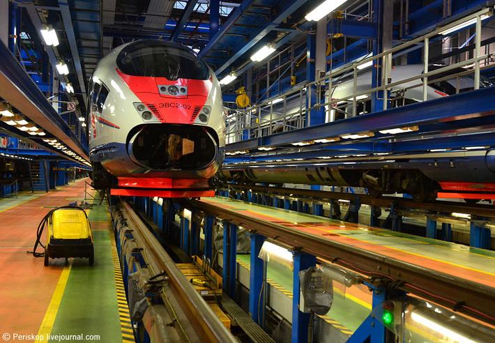 Цех обслуживания скоростных поездов ТЧ-10