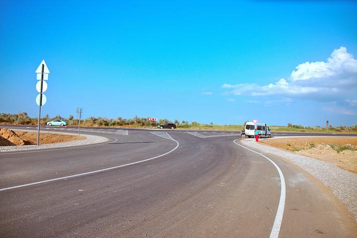 Новая трасса на пересечении с дорогой А-290