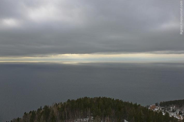 Вид на Байкал с балкона БСВТ