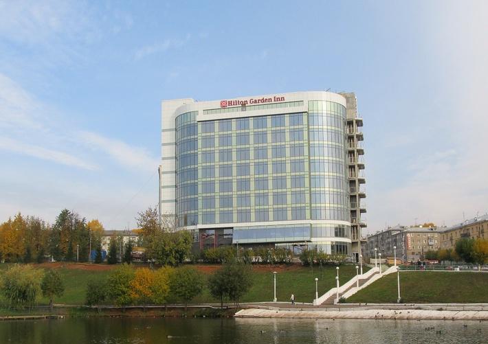 Отель Hilton Garden Inn Kirov. Сентябрь 2014 г. (завершающая стадия строительства)