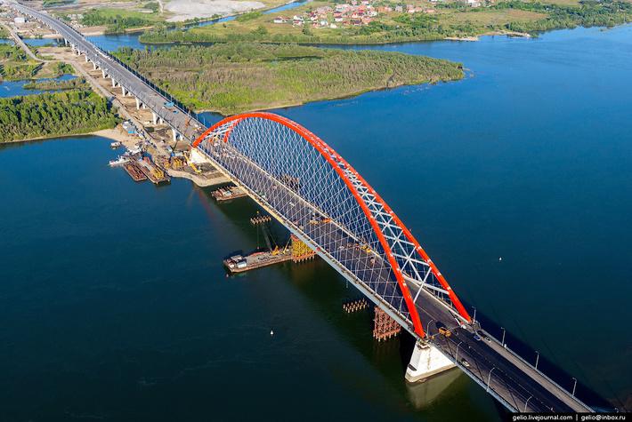 Бугринский мост — строящийся