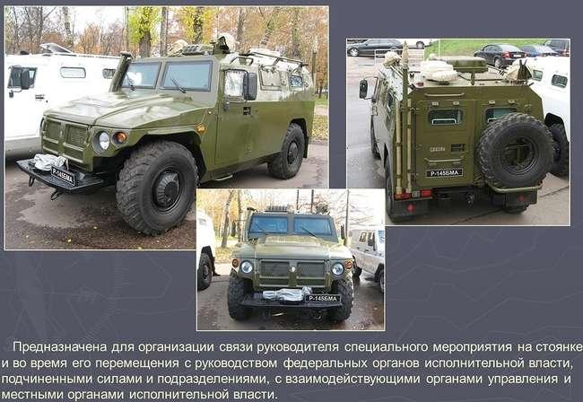 Р-145БМА - командно-штабная машина (КШМ) на базе бронеавтомобиля СПМ-2