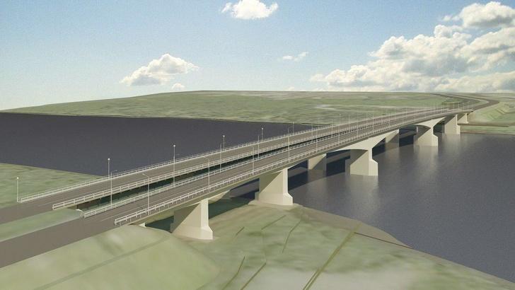 Проект моста через Волхов в Кириши