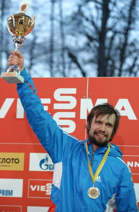 Александр Третьяков, завоевавший золото на последнем этапе Кубка мира по скелетону в Сочи