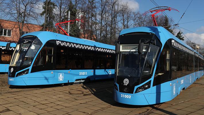 ВМоскве вышли на маршрут трамваи нового поколения