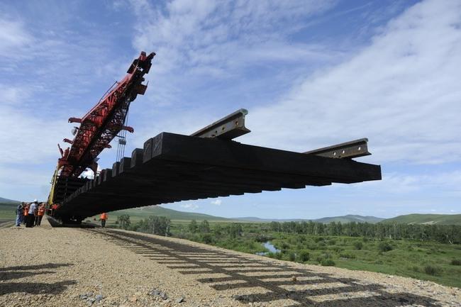строительство железной дороги август 2011 г.