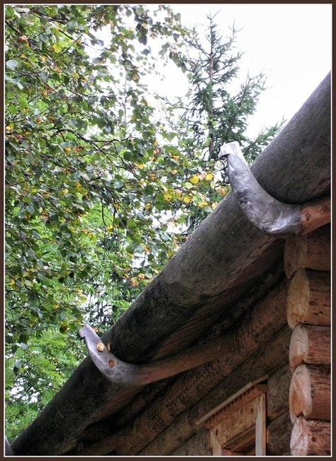 Кокора - в деревянном зодчестве ствол, как правило - ели, с одним ответвленным корнем, образующим крюк. Кокора использовалась в качестве стропила при устройстве безгвоздевых кровель