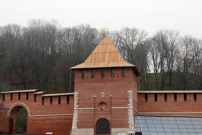 Восстановленная Зачатьевская башня