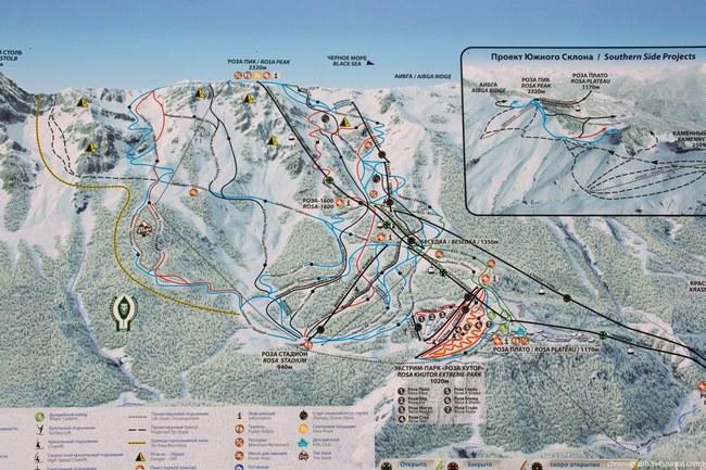 горнолыжных трасс