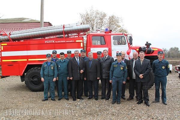 Новая пожарная часть в селе Новоромановском