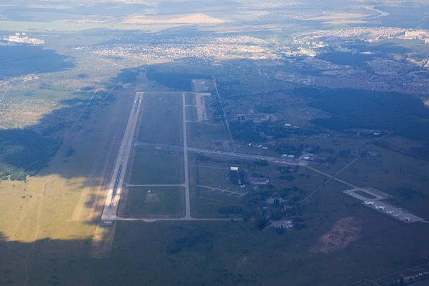 Панорама авиабазы Воронеж – Балтимор, с которой работала авиация