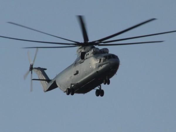 Первый полет вертолета Ми-26 (серийный номер 32-04)