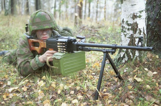 7,62-мм пулемет ПКМ (КК 7,62) на вооружении финской армии. (с) Jusa / www.militaryimages.net