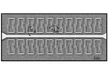 20 С-образных кубитов по обеим сторонам резонатора, электронная микрофотография