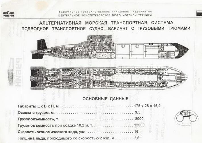 """Переоборудовать боевые АПЛ в транспортые ЦКБ """"Рубин"""" пытался еще в 1999г."""