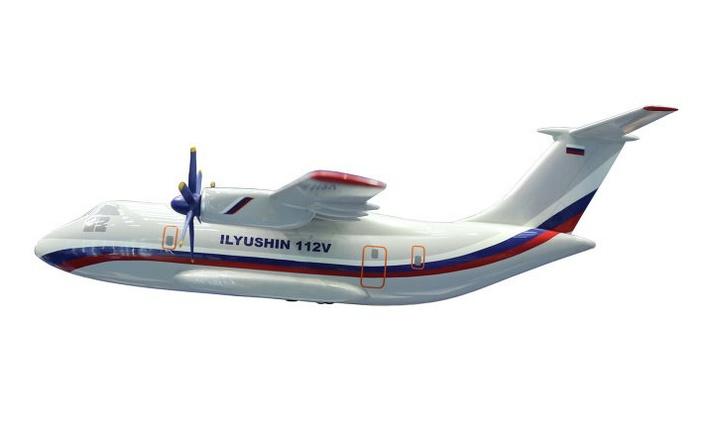 Проектное изображение военно-транспортного самолета Ил-112В (с) ОАО «Авиационный комплекс имени С. В. Ильюшина»