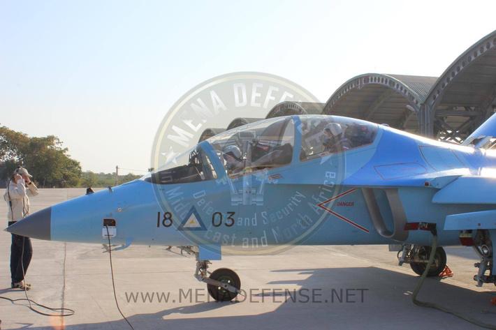 Учебно-боевой самолет Як-130 ВВС Мьянмы (бортовой номер 1803), февраль 2017 года (с) menadefense.net