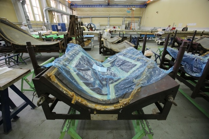 Участок выкладки препрегов цеха композитного производства