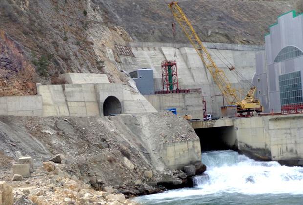 Гоцатлинская ГЭС. Выходной портал строительного тоннеля