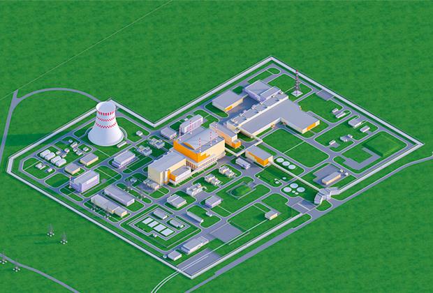 Макет будущей АЭС