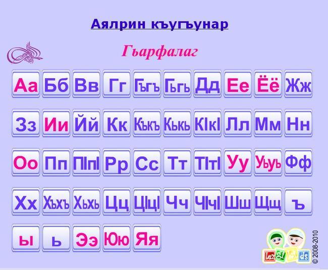 даргинский алфавит с картинками картинки