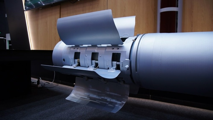 """Хвостовой блок 300 мм управляемого реактивного снаряда для РСЗО """"Торнадо-С"""""""