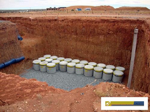 Захоронение радиоактивного грунта
