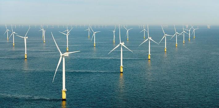 Пример построенной морской ветроэлектростанции