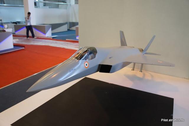 Модель русско-индийского истребителя 5-го поколения