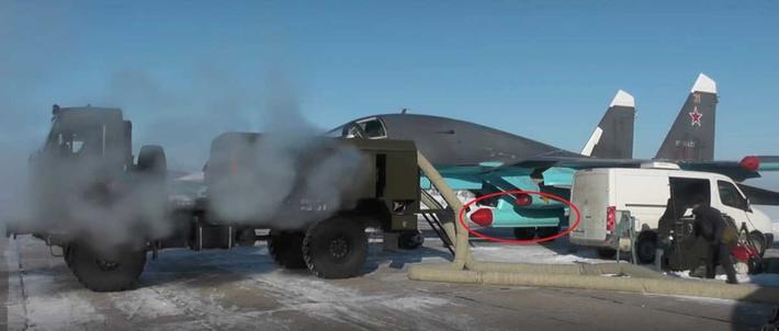 """Су-34 оснащенный станцией РЭБ групповой защиты САП-14 """"Тарантул"""" / ©Военный Осведомитель"""