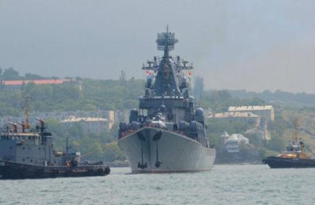 Гвардейский ракетный крейсер «Москва» ЧФ РФ.