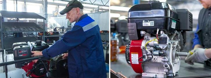 На мотобуксировщики SnowDog премиального класса ставят двигатели Briggs&Stratton 2100 Professional объёмом 420 куб.см, с ручным и электростартером