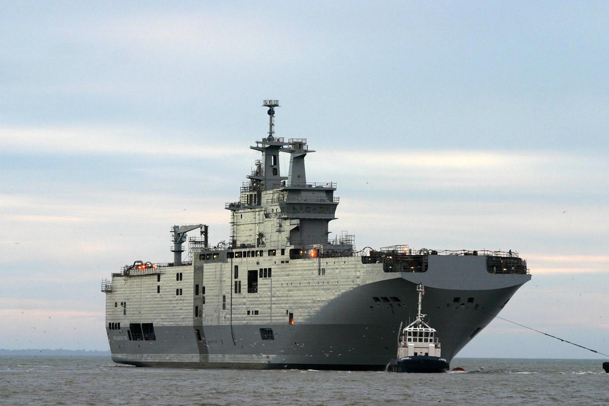 França vai fornecer à Rússia os navios tipo Mistral