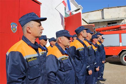 Новое пожарное подразделение ГКУ РК «Пожарная охрана Республики Крым» приведено в действие по предназначению в с. Вилино Бахчисарайского района